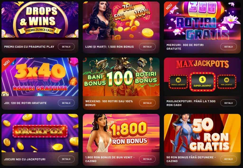 MaxBet Cazino promoții