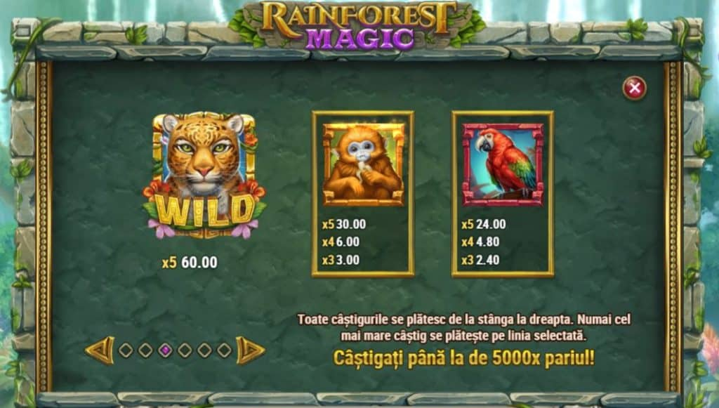Păcănele gratis online Rainforest Magic