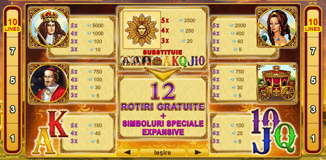 Versailles Gold păcănele online