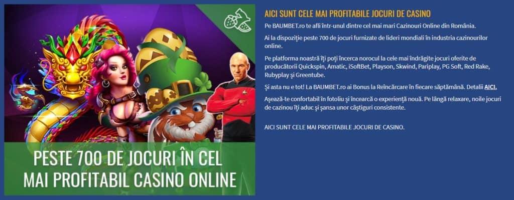 Păcănele online la Baumbet Cazino
