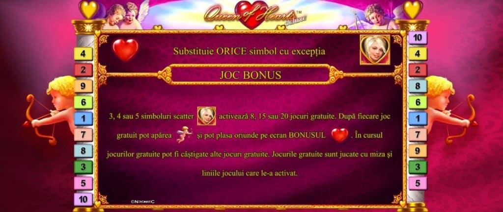 Păcănele online Queen of Hearts Deluxe