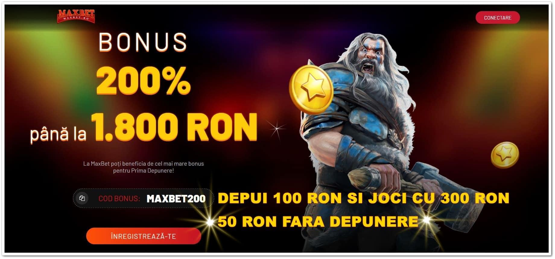 Cel mai mare bonus la casino online si 50 ron fara depunere