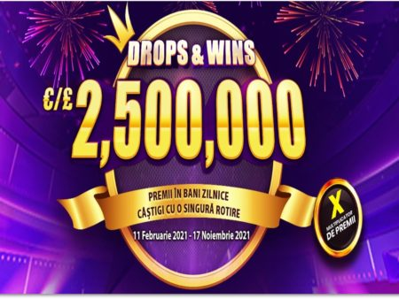 Câștigă 5.000x miza la sloturile Drops & Wins !