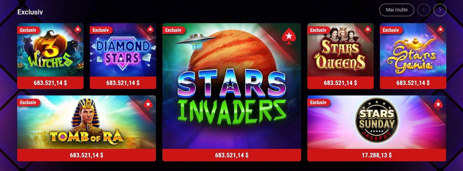 pacanele exlusiv la stars casino