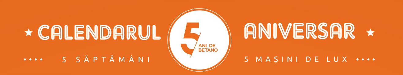 Calendarul aniversar Betano 5 ani