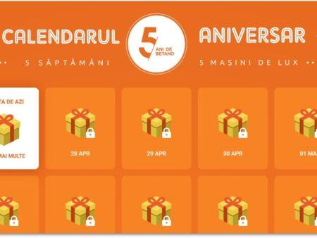 Descoperă promoții zilnice în Calendarul Aniversar Betano