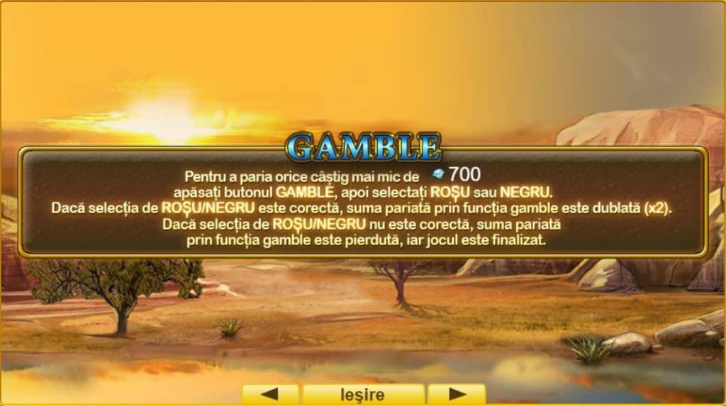 Jocul ca la aparate Gold Dust