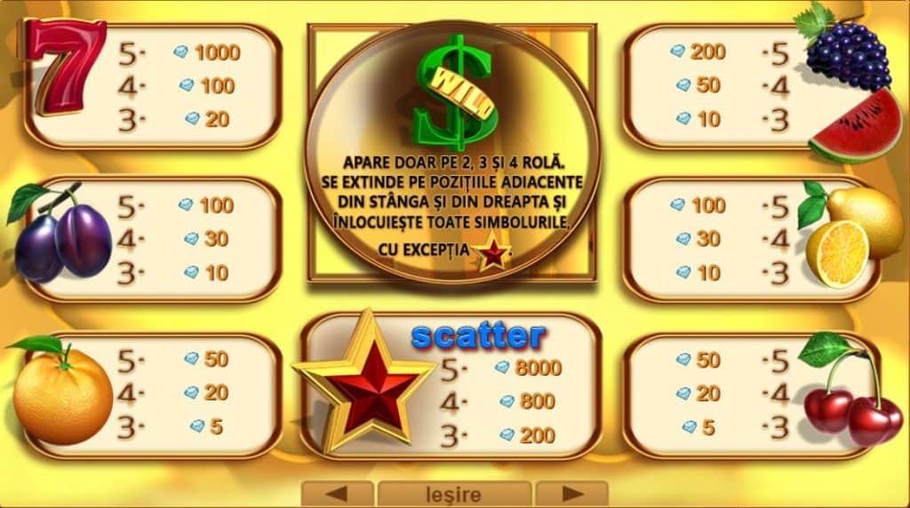 Jocul ca la aparate 40 Hot Cash