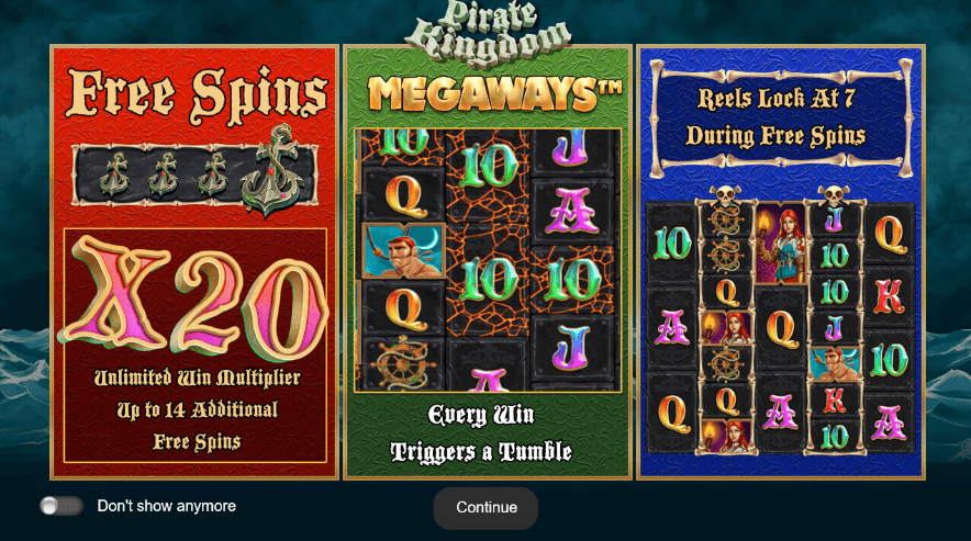 Imagine de bun venit la Pirate Kingdom Megaways