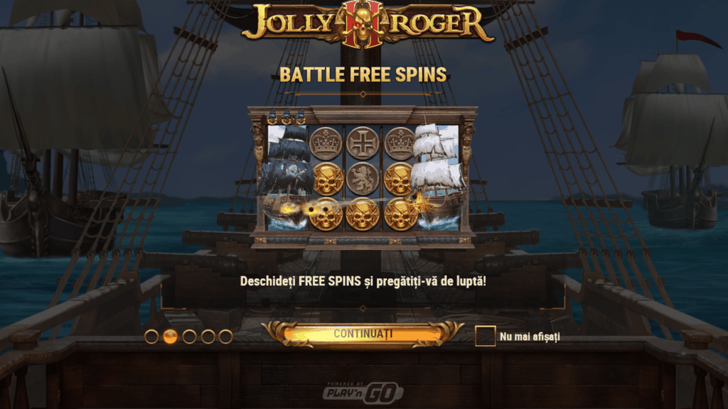 Battle Free Spins slot Jolly Roger 2