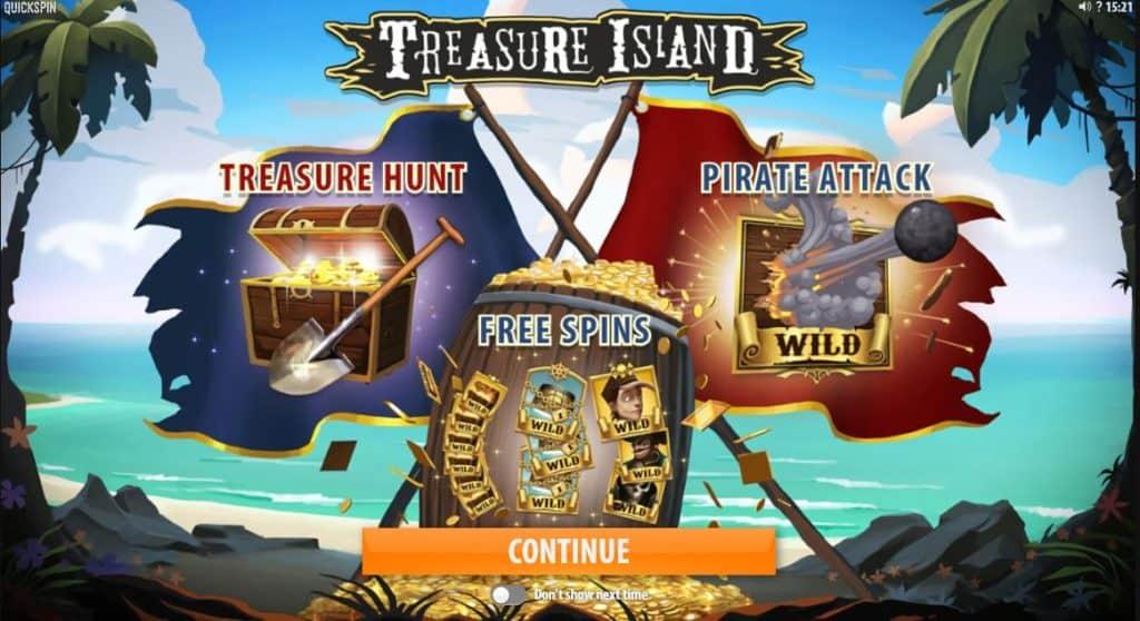 Treasure Island un slot uimitor cu funcți speciale