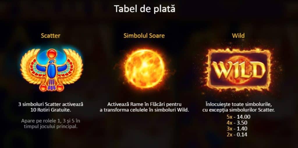 Jocuri ca la aparate din Egipt – Solar King